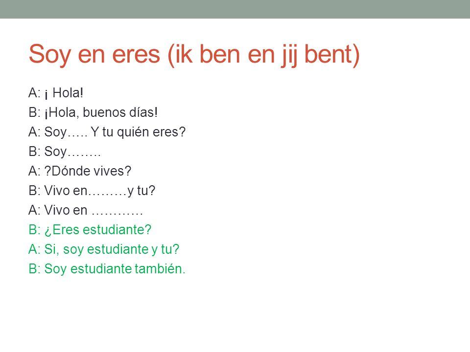 Uitspraak C (thé) C= Engelse th voor een e of een i: cerdo (varken) circulo once C = K voor alle andere letters: ¿ Cómo te llamas.