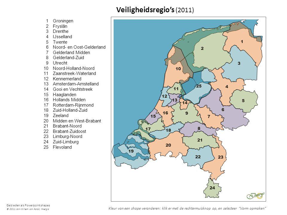 Gebieden als Powerpoint shapes © 2011 Jan-Willem van Aalst, Imergis 1 2 3 4 5 6 7 8 9 10 11 12 13 14 15 16 17 18 19 20 21 22 23 24 25 Groningen Fryslâ