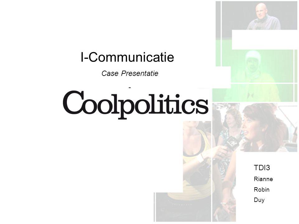 I-Communicatie Case Presentatie - TDI3 Rianne Robin Duy