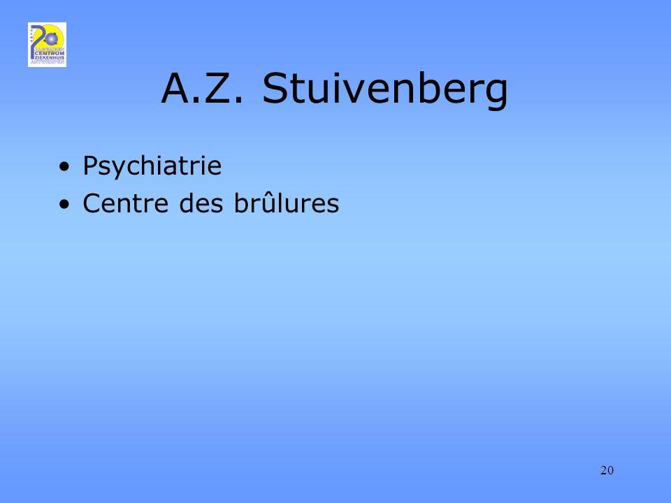 20 A.Z. Stuivenberg Psychiatrie Centre des brûlures