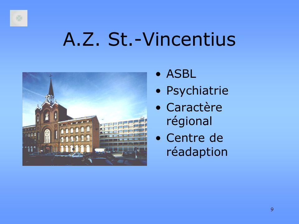 9 A.Z. St.-Vincentius ASBL Psychiatrie Caractère régional Centre de réadaption