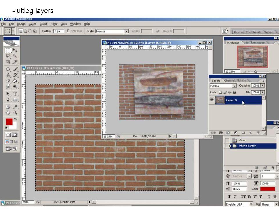 - uitleg layers