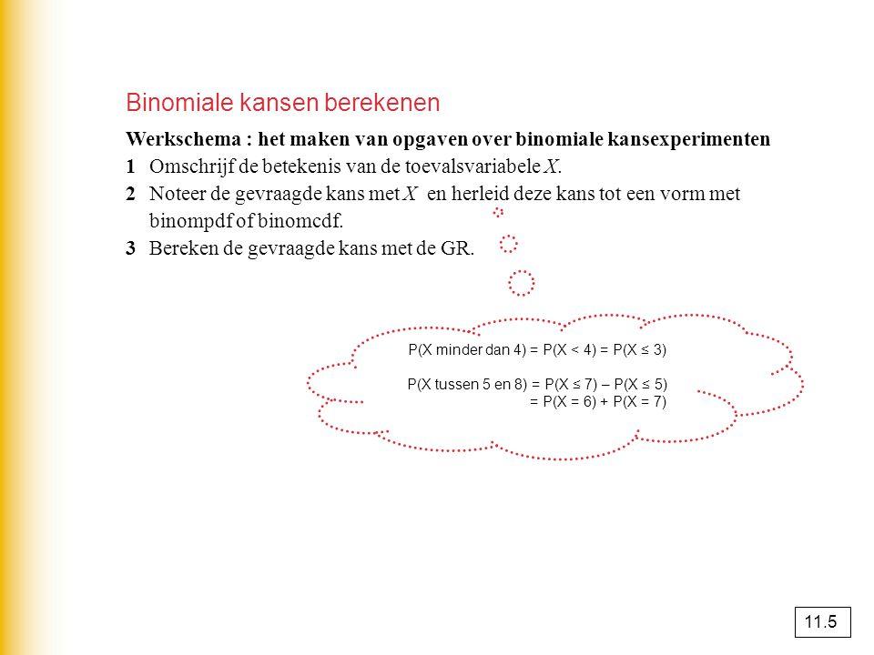 De binomiale en de normale verdeling combineren opgave 88 aX = het aantal handelingen dat langer dan 3 minuten duurt.