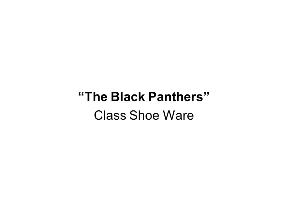The Black Panthers Class Shoe Ware