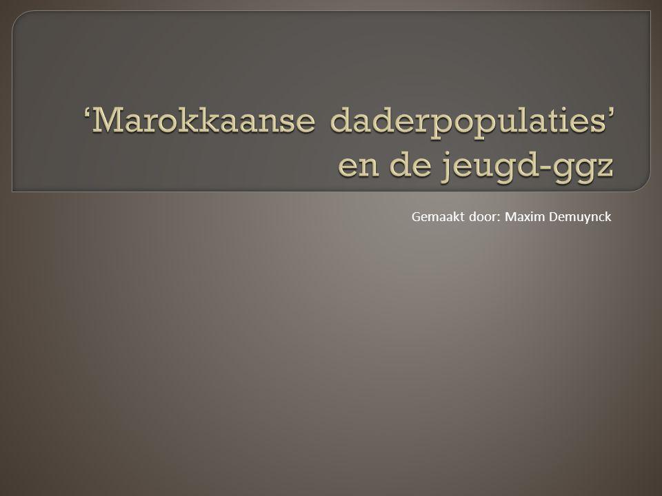  Als we spreken over Marokkaanse jongens bedoelen we jongens die zelf, of waarvan minstens een ouder in Marokko is geboren!