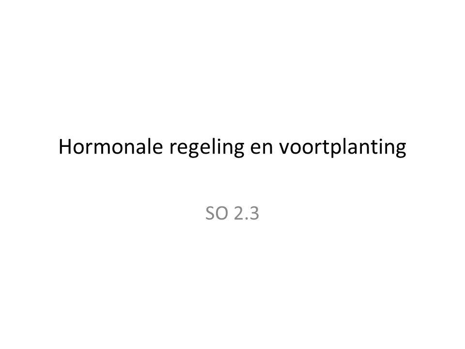 Hormonale regeling en voortplanting SO 2.3