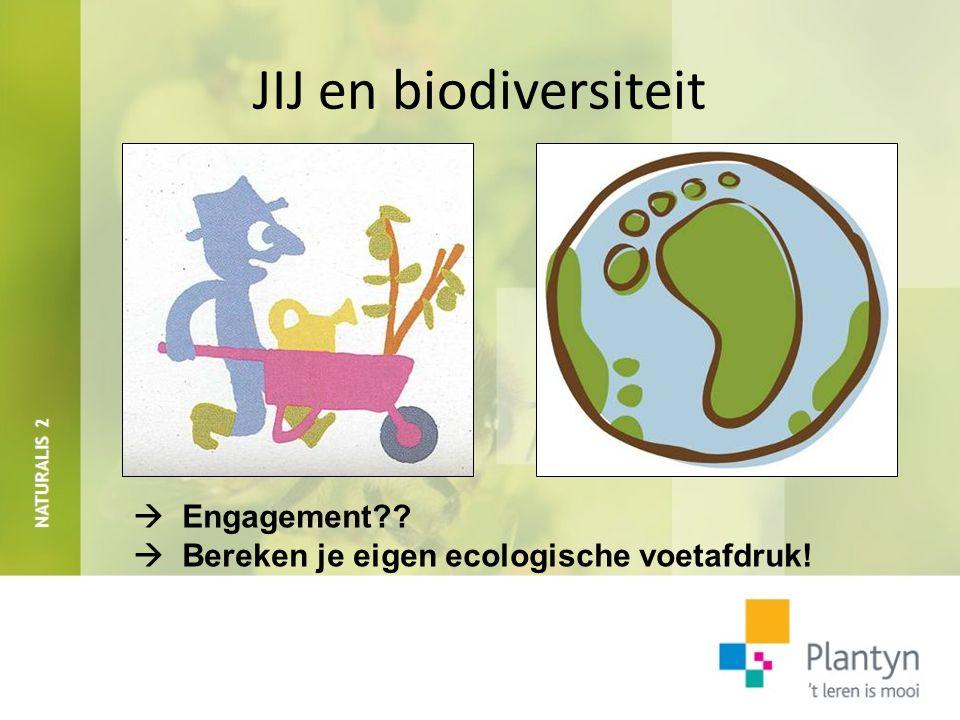 JIJ en biodiversiteit  Engagement??  Bereken je eigen ecologische voetafdruk!
