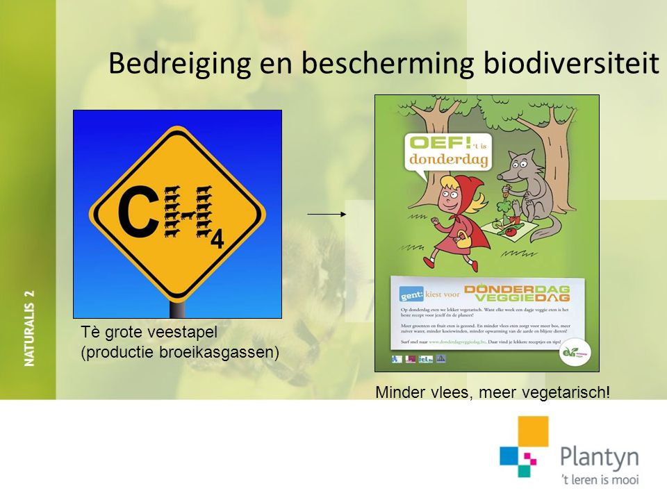 Bedreiging en bescherming biodiversiteit Boskap voor landbouw en tropisch hardhout Eco-toerisme zit in de lift!