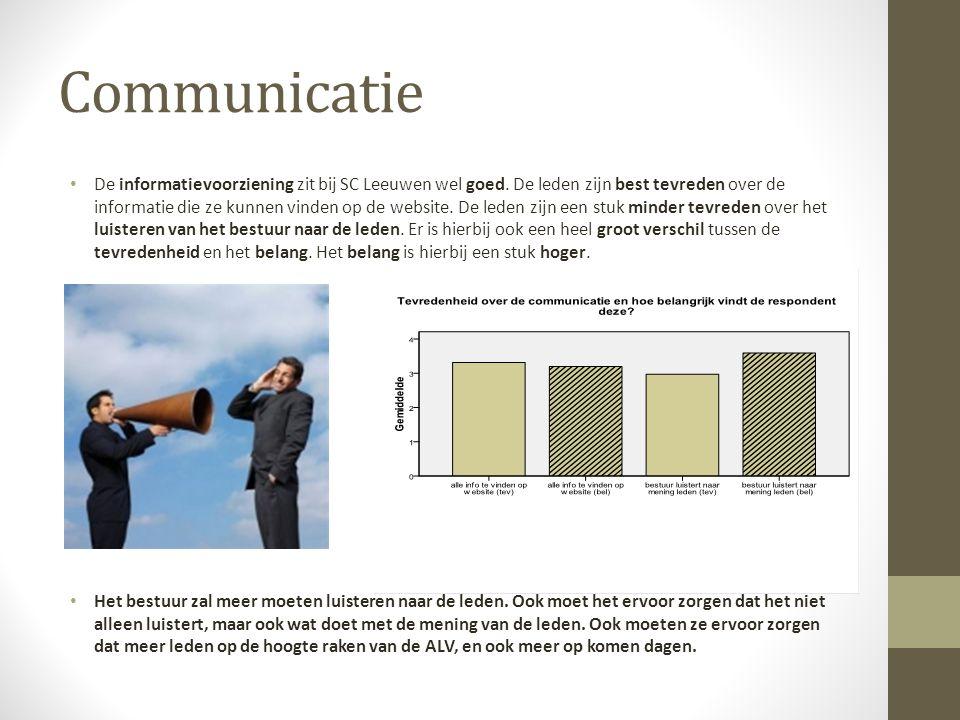 Communicatie De informatievoorziening zit bij SC Leeuwen wel goed.