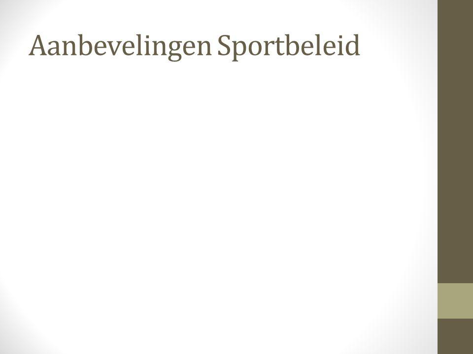 Aanbevelingen Sportbeleid