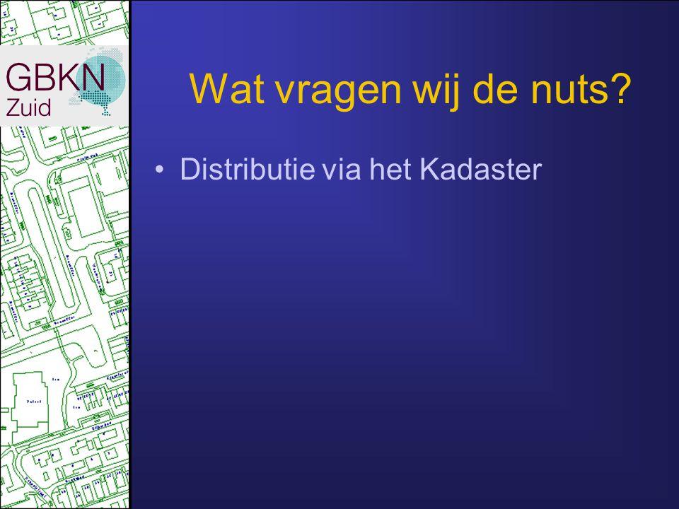 Wat vragen wij de nuts? Distributie via het Kadaster