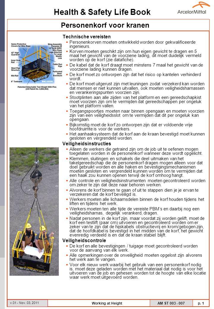 Health & Safety Life Book AM ST 003 - 007 p.2 v.01 - Nov.