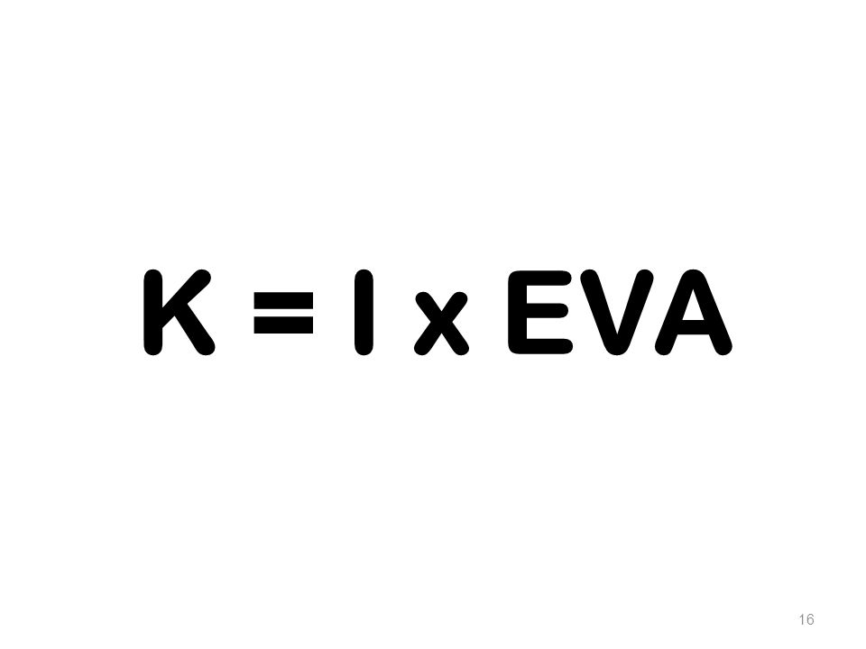 16 K = I x EVA