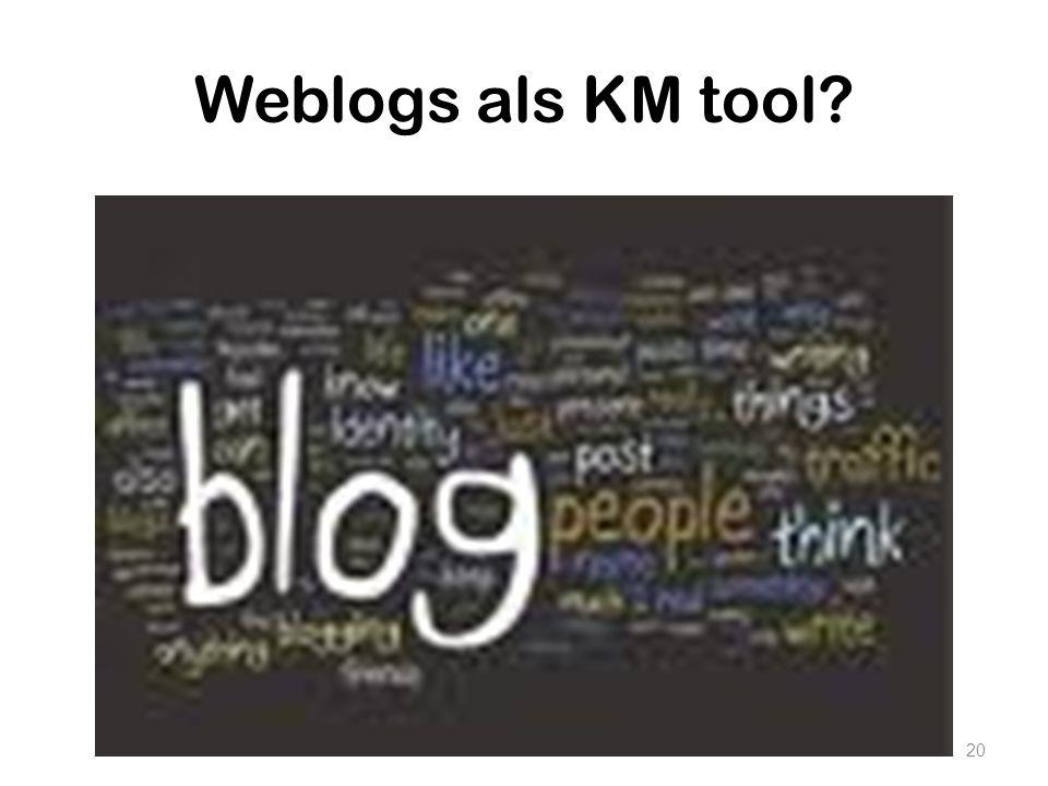 Weblogs als KM tool? 20
