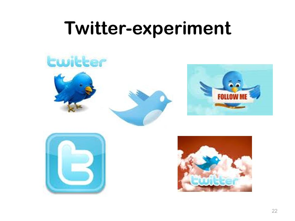 Twitter-experiment 22