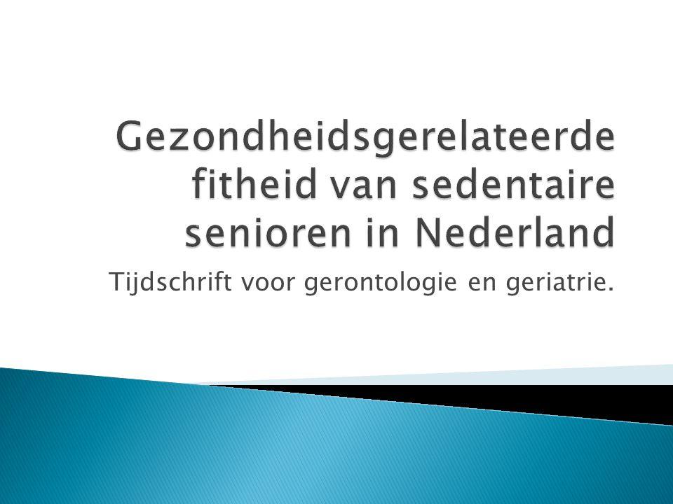 Tijdschrift voor gerontologie en geriatrie.