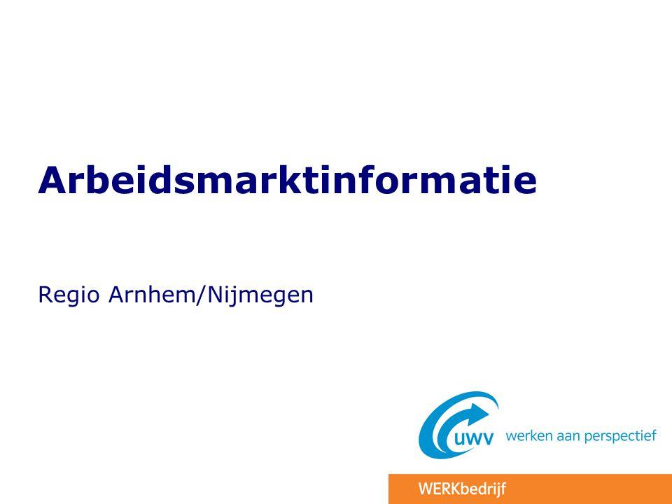 Arbeidsmarktinformatie Regio Arnhem/Nijmegen