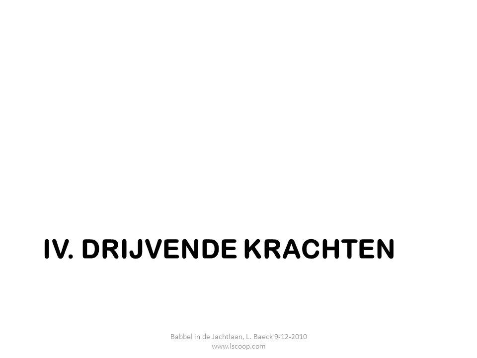 IV. DRIJVENDE KRACHTEN Babbel in de Jachtlaan, L. Baeck 9-12-2010 www.lscoop.com