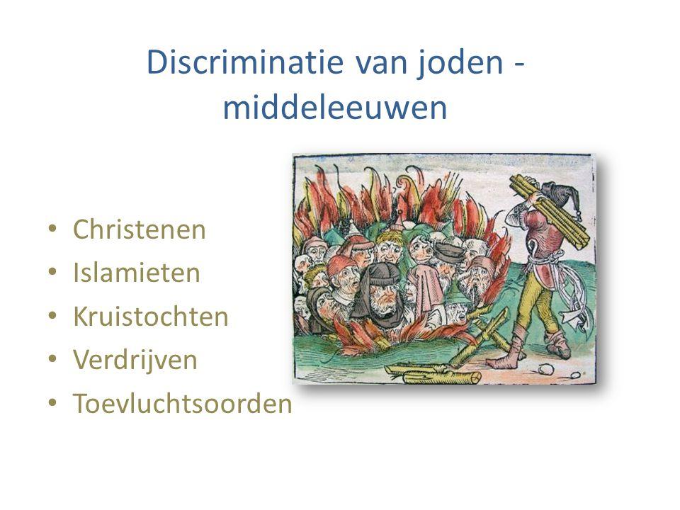 Discriminatie van joden - middeleeuwen Christenen Islamieten Kruistochten Verdrijven Toevluchtsoorden