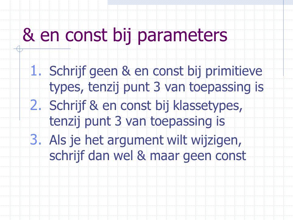 & en const bij parameters 1.