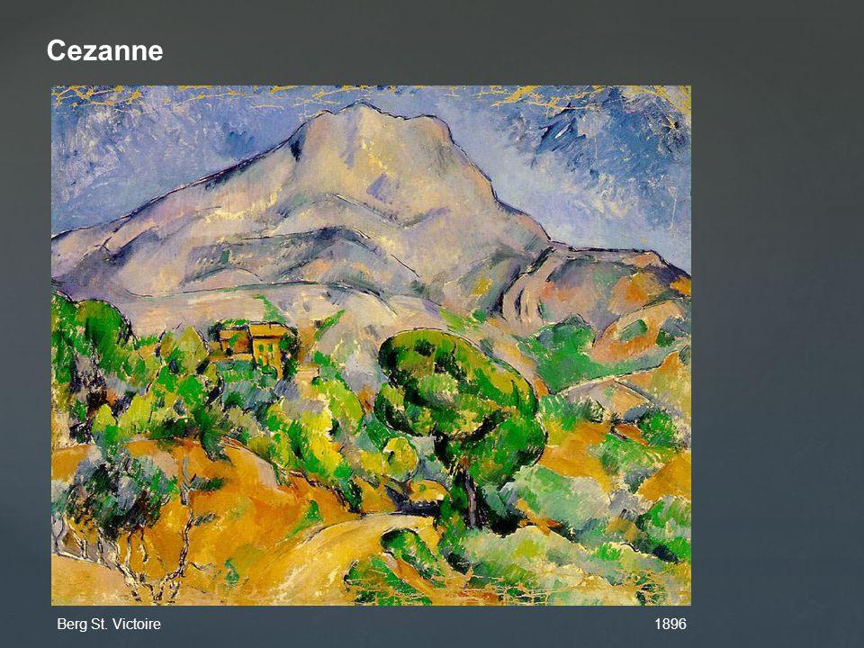 Cezanne Berg St. Victoire 1896