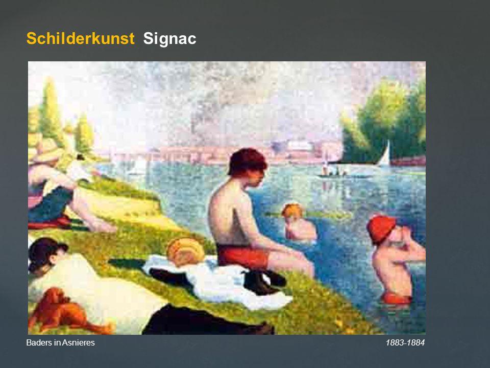 Baders in Asnieres 1883-1884 Schilderkunst Signac