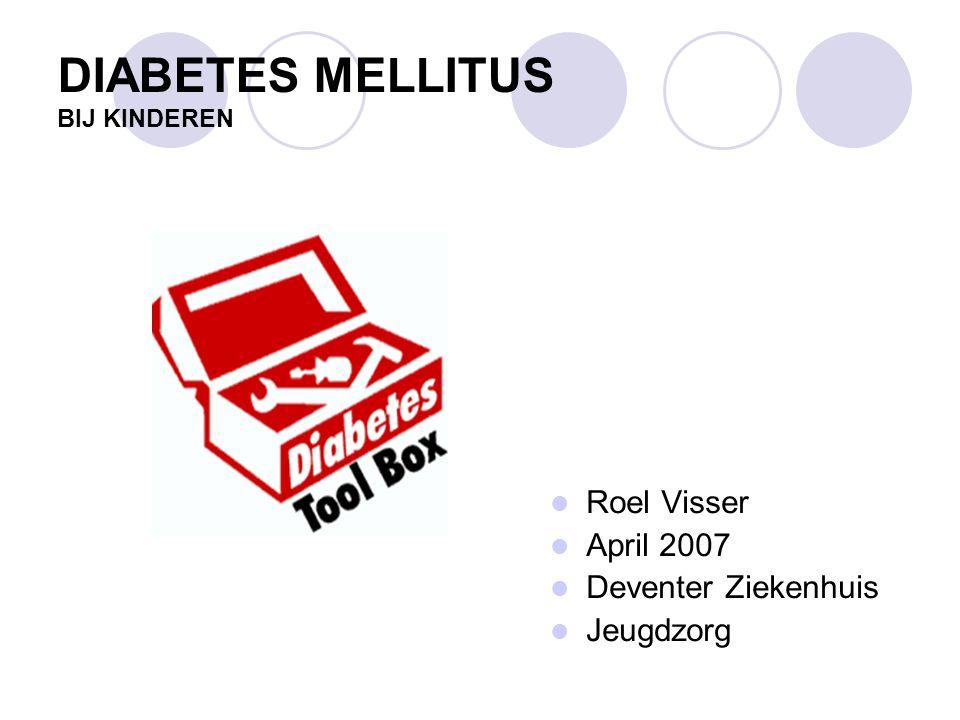 TYPEN DM Diabetes mellitus type 1 - absoluut insuline tekort, dus insuline afhankelijk Diabetes mellitus type 2 - niet insuline afhankelijk leeftijd, erfelijk, gewicht, bewegen - ongevoelig voor insuline en/of onvoldoende productie van insuline Overige typen Diabetes mellitus - zwangerschapsdiabetes - MODY, LADA en MIDD - restgroep