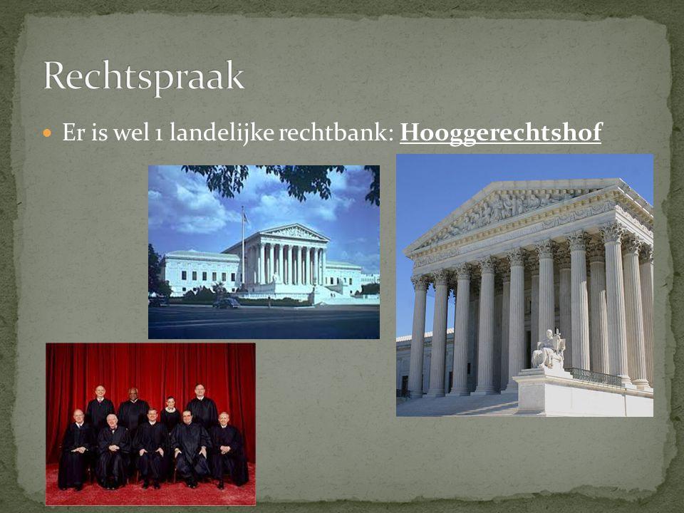 Er is wel 1 landelijke rechtbank: Hooggerechtshof