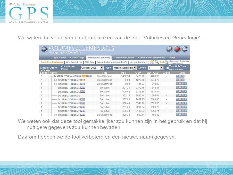 We weten dat velen van u gebruik maken van de tool Volumes en Genealogie .