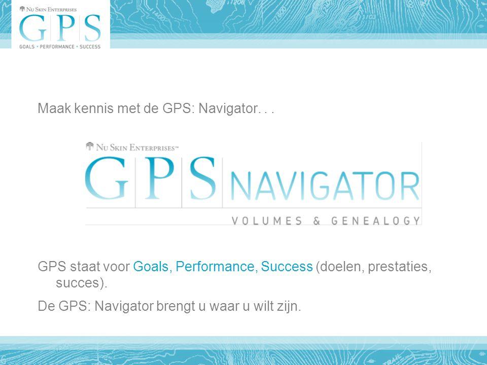 Belangrijkste kenmerken van de nieuwe GPS: Navigator Geeft een overzicht van de huidige V&G-gegevens.