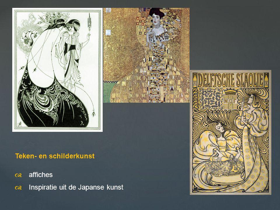 Teken- en schilderkunst  affiches  Inspiratie uit de Japanse kunst