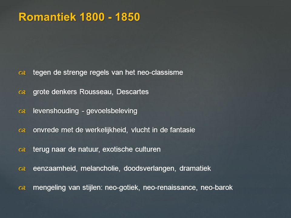 De mens in de natuur Krijtrotsen op Rügen Friedrich 1818 De mens is een nietig wezen en heeft tegenover de grootsheid van de natuur weinig in te brengen.