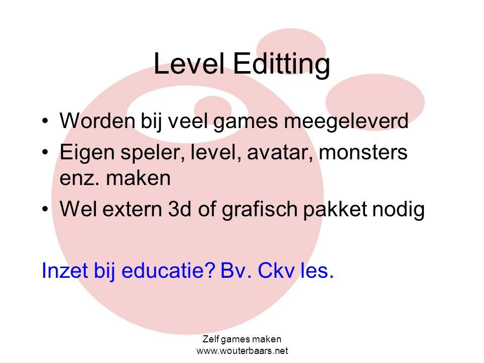 Zelf games maken www.wouterbaars.net Gamemaker lessen resultaat