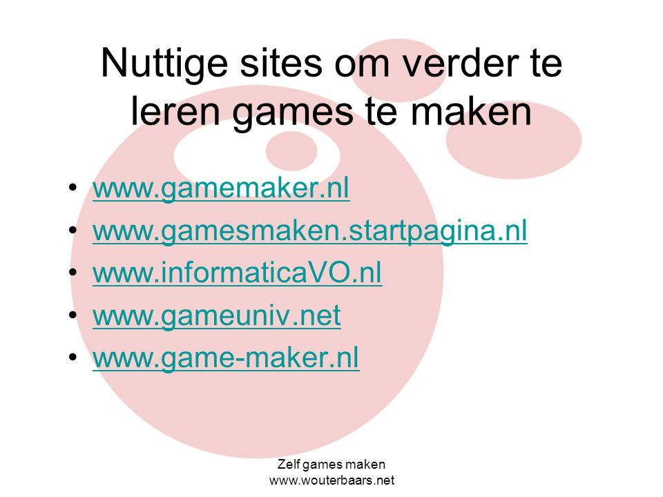 Zelf games maken www.wouterbaars.net 3d gamekits
