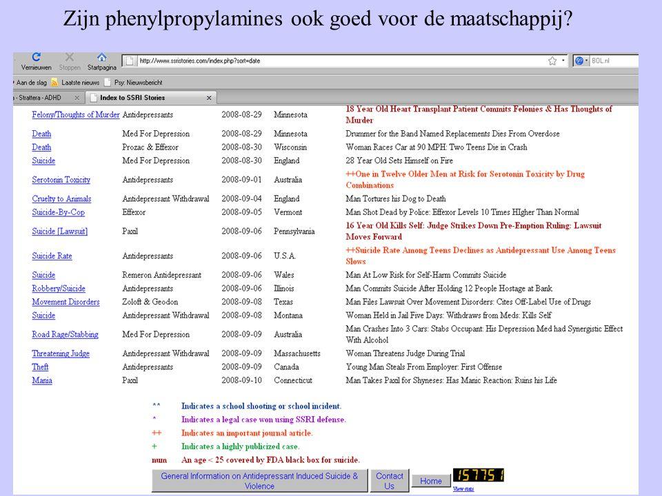 33 Zijn phenylpropylamines ook goed voor de maatschappij?