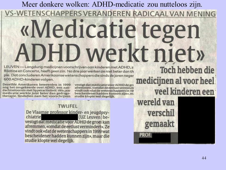 44 Meer donkere wolken: ADHD-medicatie zou nutteloos zijn.
