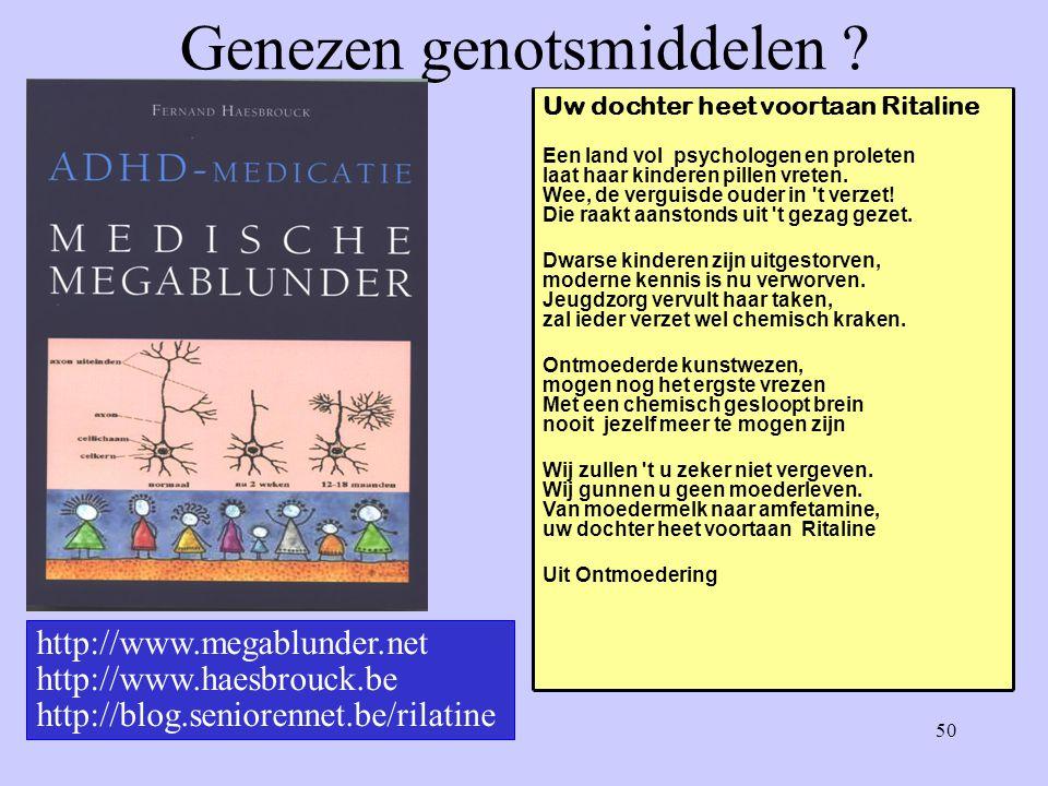 50 Genezen genotsmiddelen .