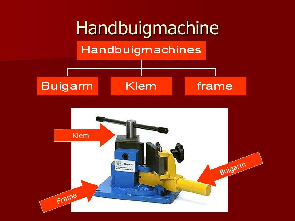Handbuigmachine Buigarm Frame Klem
