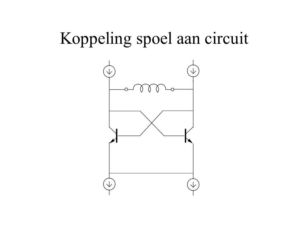 Koppeling spoel aan circuit