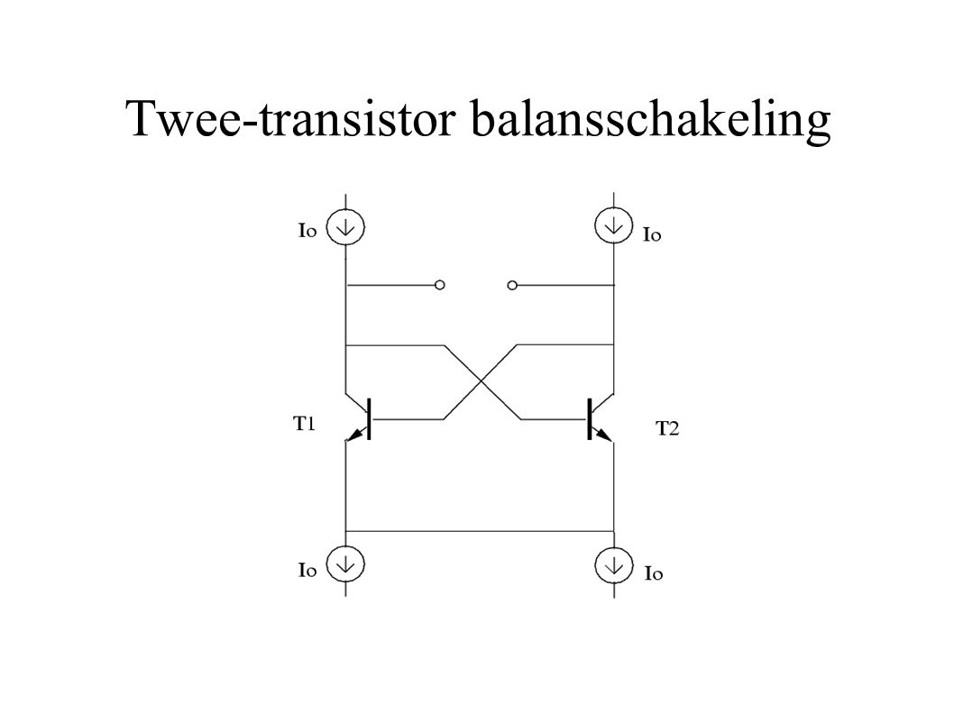 Twee-transistor balanssschakeling