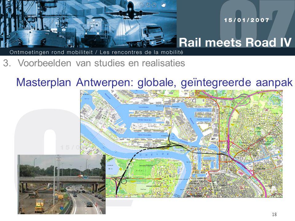 18 Masterplan Antwerpen: globale, geïntegreerde aanpak 3.Voorbeelden van studies en realisaties
