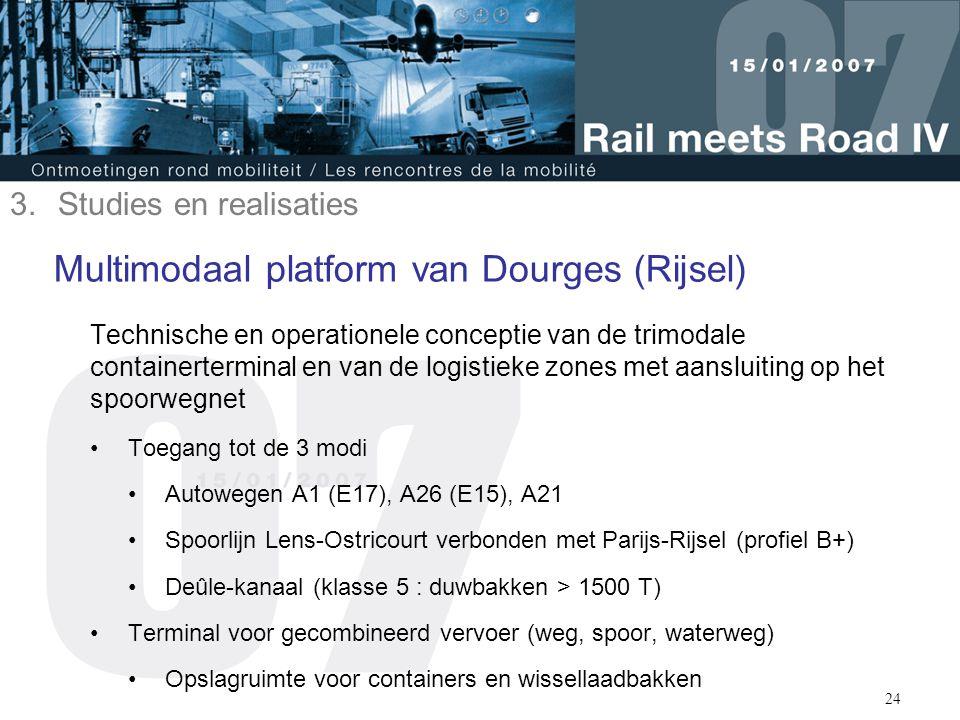 24 Multimodaal platform van Dourges (Rijsel) Technische en operationele conceptie van de trimodale containerterminal en van de logistieke zones met aa