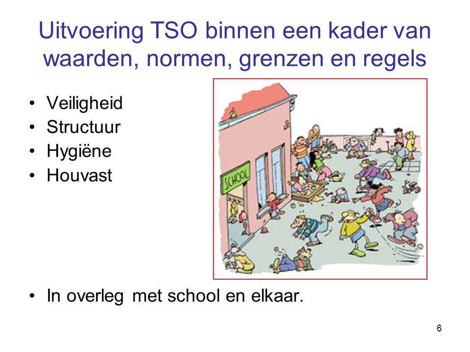 7 Omgangsregels TSO Koningin Julianaschool We hebben respect voor elkaar.