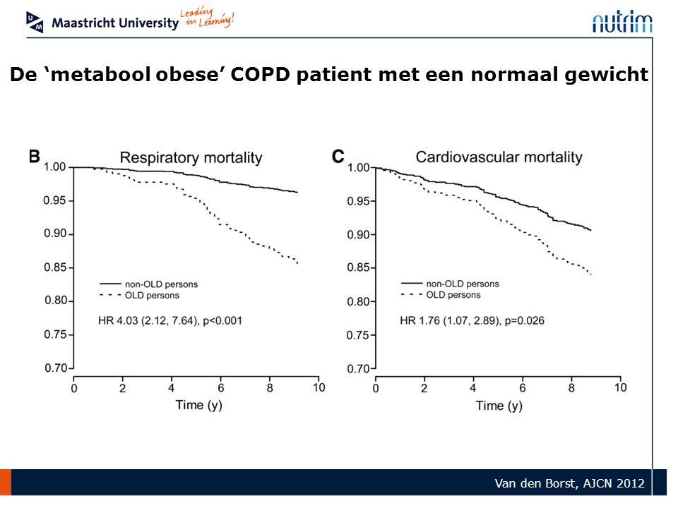 De 'metabool obese' COPD patient met een normaal gewicht Van den Borst, AJCN 2012