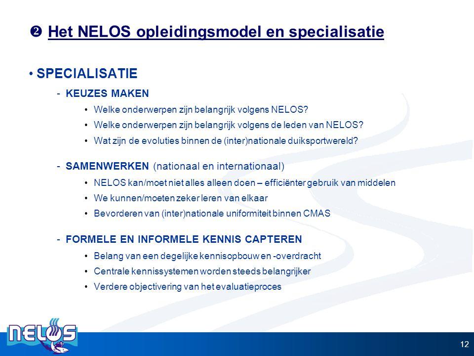  Het NELOS opleidingsmodel en specialisatie SPECIALISATIE -KEUZES MAKEN Welke onderwerpen zijn belangrijk volgens NELOS? Welke onderwerpen zijn belan