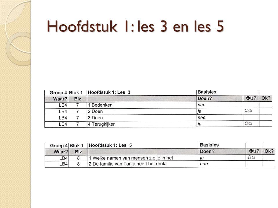 Hoofdstuk 1: les 3 en les 5