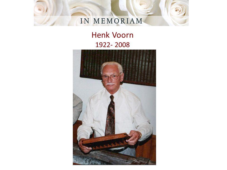 Henk Voorn 1922- 2008