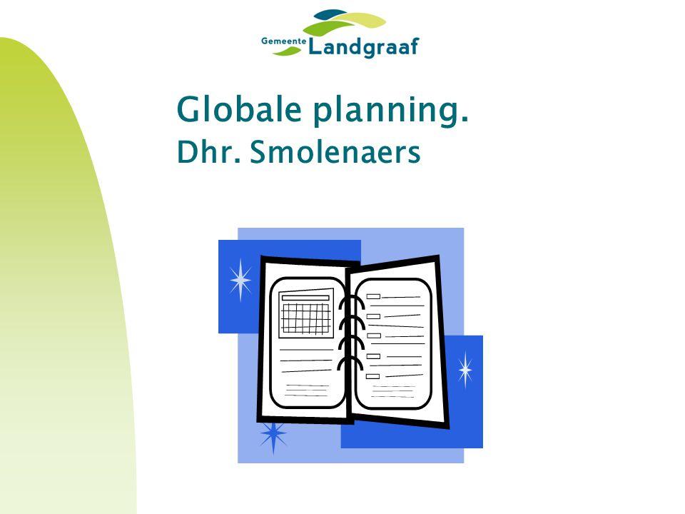 Globale planning. Dhr. Smolenaers