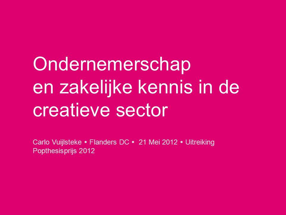 Carlo Vuijlsteke  Flanders DC  21 Mei 2012  Uitreiking Popthesisprijs 2012 Ondernemerschap en zakelijke kennis in de creatieve sector
