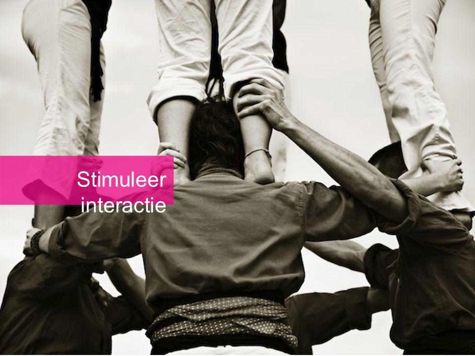 Stimuleer interactie